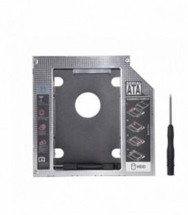 """Adaptator portátil 9.5mm conexión HDD/SSD 2.5"""" ranura DVD"""