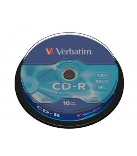 Tarrina de 10 unid. Verbatim CD-R Extra Protection