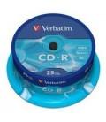 Tarrina de 25 unid. Verbatim CD-R Extra Protection