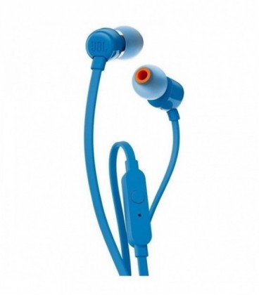 Auriculares Intrauditivos JBL T110/ con Micrófono/ Jack 3.5/ Azul
