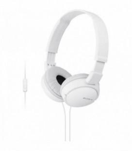 Auriculares Sony MDRZX110APW/ con Micrófono/ Jack 3.5/ Blancos