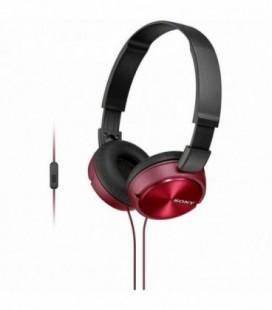 Auriculares Sony MDRZX310APR/ con Micrófono/ Jack 3.5/ Rojos