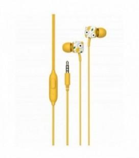 Auriculares Intrauditivos SPC Hype/ con Micrófono/ Jack 3.5/ Amarillo