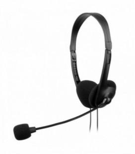 Auriculares Anima AH118/ con Micrófono/ Jack 3.5/ Negro