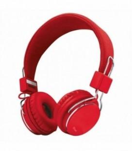 Auriculares Trust Urban Ziva 21822/ con Micrófono/ Jack 3.5/ Rojo