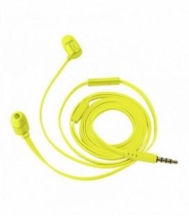 Auriculares Intrauditivos Trust Duga 22744/ con Micrófono/ Jack 3.5/ Amarillo Neón