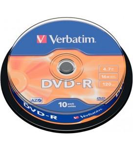 Tarrina de 10 unid. Verbatim DVD-R Matt Silver