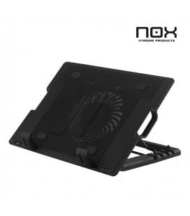 "Base de refrigeración Atril Portatil NOX Kaze Negro 9-17"" LED Azul"