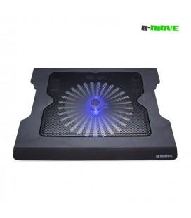 Base de refrigeración portátil B-Move Twist Air 9-17'' LED azul