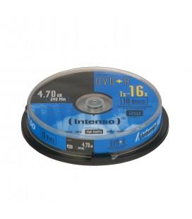 Tarrina de 10 unid. Intenso DVD+R 4.7GB 16X