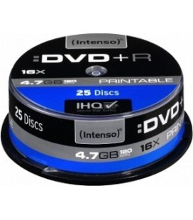 Tarrina de 25 unid. Intenso DVD+R 4.7GB 16X