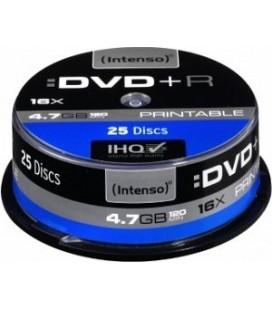 Tarrina de 25 unid. Intenso DVD+R 4.7GB 16X
