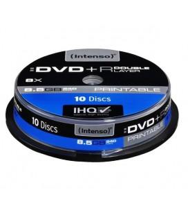 Tarrina de 10 unid. Intenso DVD+R 8.5GB 8X Doble capa