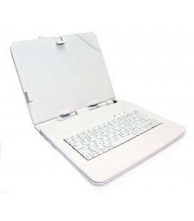 """Funda tablet con teclado 7"""" Blanca"""