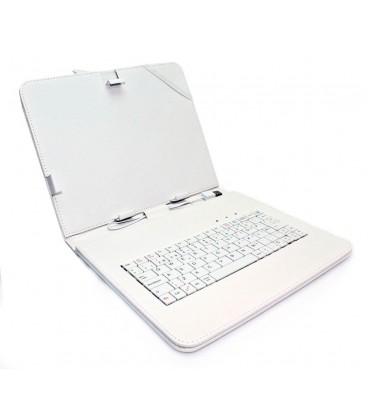 """Funda tablet con teclado 9.7"""" Blanca"""