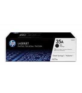 Pack ahorro con 2 Tóner Originales HP LaserJet 35A negro