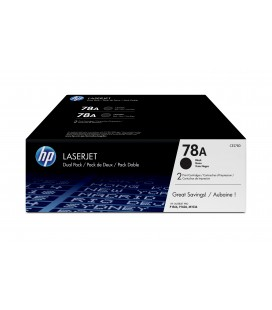 Pack ahorro con 2 Tóner Originales HP LaserJet 78A negro