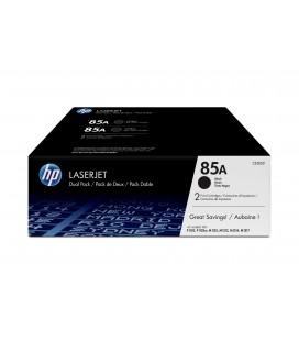 Pack ahorro con 2 Tóner Originales HP LaserJet 85A negro