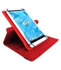 "Funda tablet 3GO CSGT con soporte rotatorio 10.1"" universal Roja"