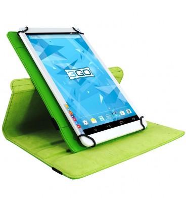 """Funda tablet 3GO CSGT con soporte rotatorio 10.1"""" universal Verde"""