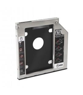 """Adaptador para portátil nanocable para conexion HDD/SDD 2.5"""" ranura DVD 9.5mm"""