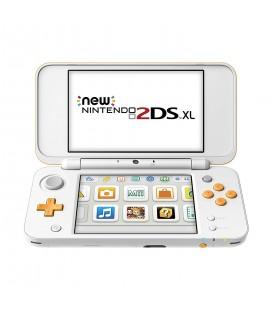 Consola nintendo 2DS XL blanco/naranja microsd 4GB